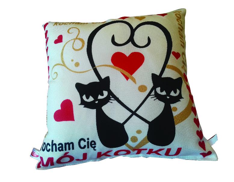 Poduszka Walentynki Kotki